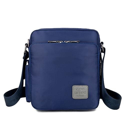 Outreo Sac Besace Sac bandoulière Sac Porté épaule Vintage Sacoche de Cours Nylon pour Femme Sac Homme Bourse école Petit Sport Bag Sac de Voyage 16f25D3