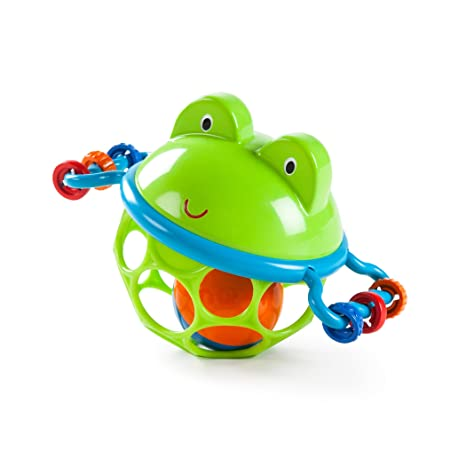 Oball Musical Toy, Jingle and Shake Pal, Multi Color Sound Toys at amazon