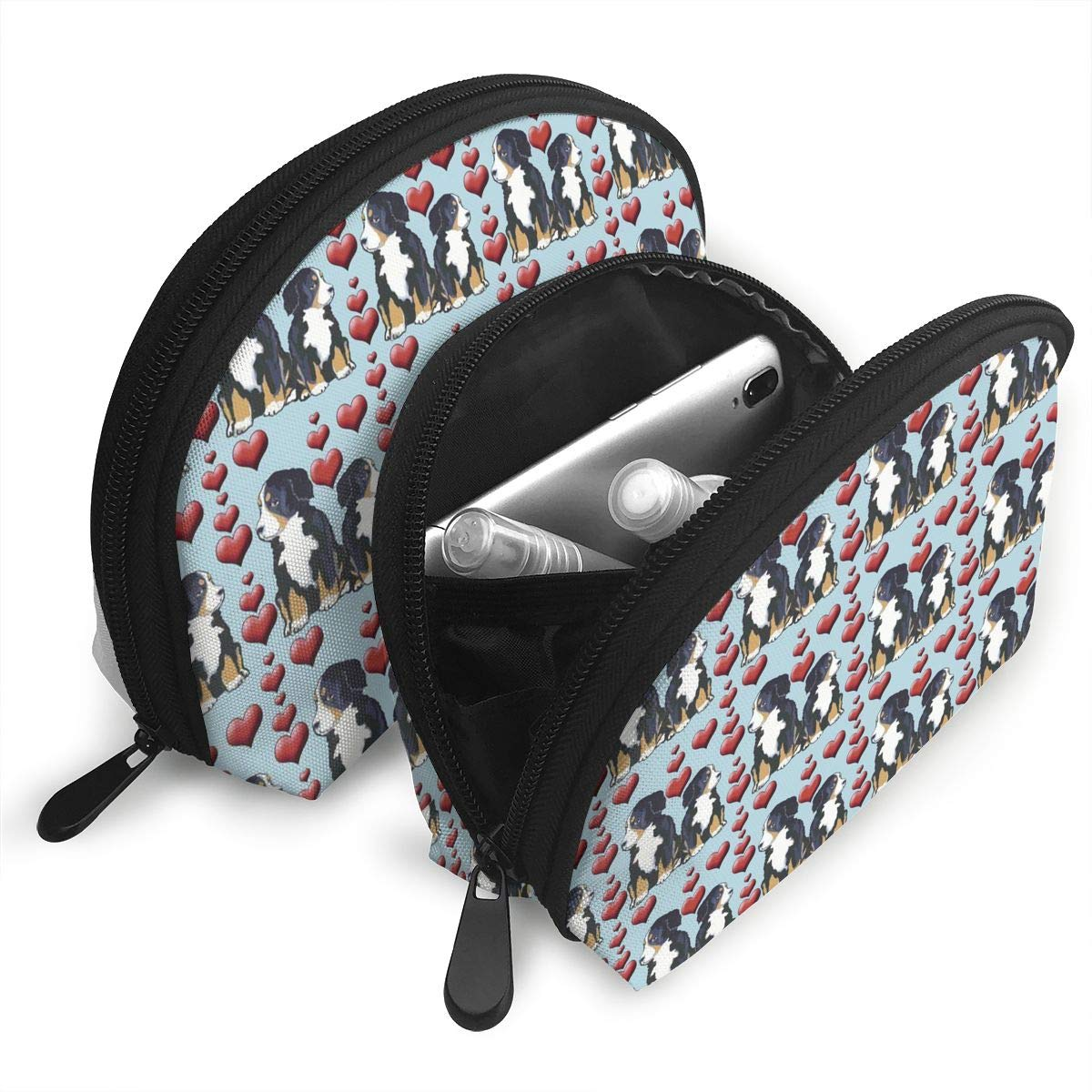 a69dd7d73b2f Amazon.com: XINLLPO Bernese Mountain Dog Puppies Hearts Portable ...