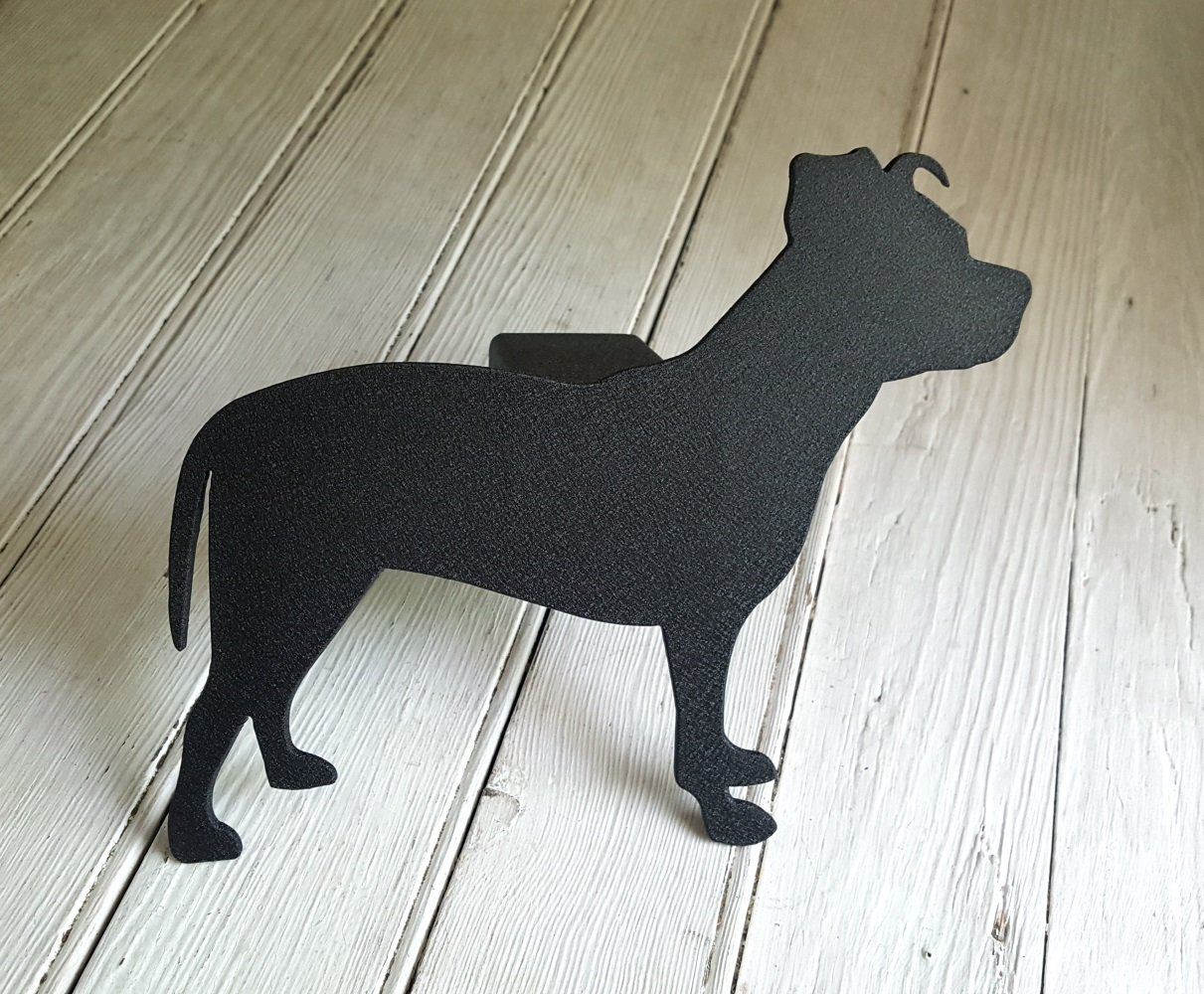 Pit Bull in Silhouette Receiver Hitch Cover