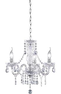 lux.pro] Lámpara de araña de cristal - blanca - E14 ...
