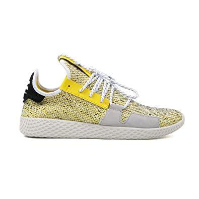 brand new e3198 14f59 adidas Mens Afro Tennis HU V2 YellowCloud WhiteCore Black BB9543 (Size