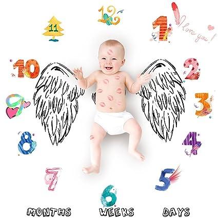 Manta para bebé con diseño de lunares y hitos para recién nacido ...