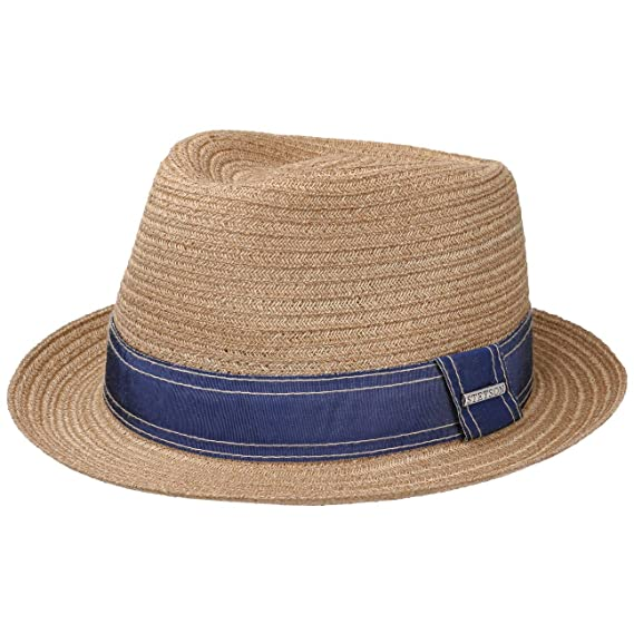 3fa0b65887c281 Stetson Lorenzo Fedora Hemp Hat Women/Men | Sun Summer Beach with Grosgrain  Band Spring-Summer: Amazon.co.uk: Clothing