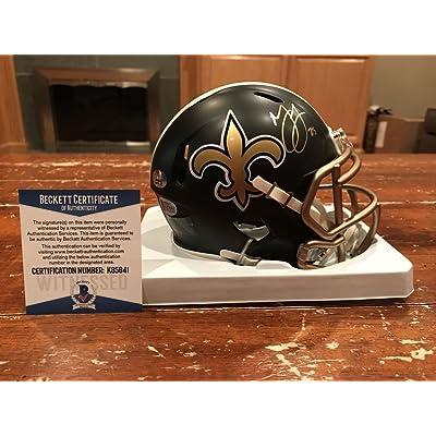 Marshon Lattimore Signed Autograph New Orleans Saints Blaze Mini Helmet  Beckett Gtsm 2bd31fcd1