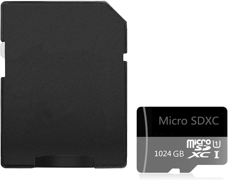 tabletas Clase 10 SDXC tarjeta de memoria con adaptador 256 GB. Tarjeta Micro SD de alta velocidad de 512 GB dise/ñada para smartphones Android