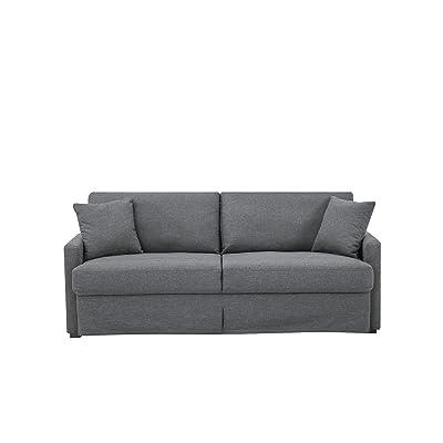 Pearington Benport Fabric Living Room 3 Seat Sofa, Dark Grey