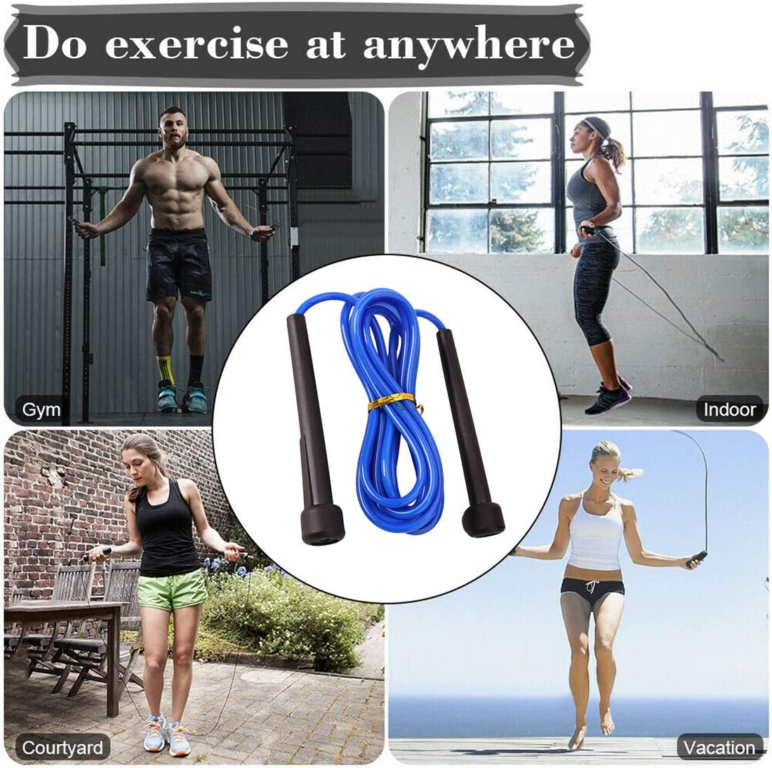 Boxing and MMA Syolee Skipping Rope Fitness Speed Rope Lightweight Jump Rope for Calories Burning Conditioning Fat Loss Interval Training Intense Workouts