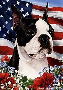 Boston Terrier - Best of Breed Patriotic I Garden Flag