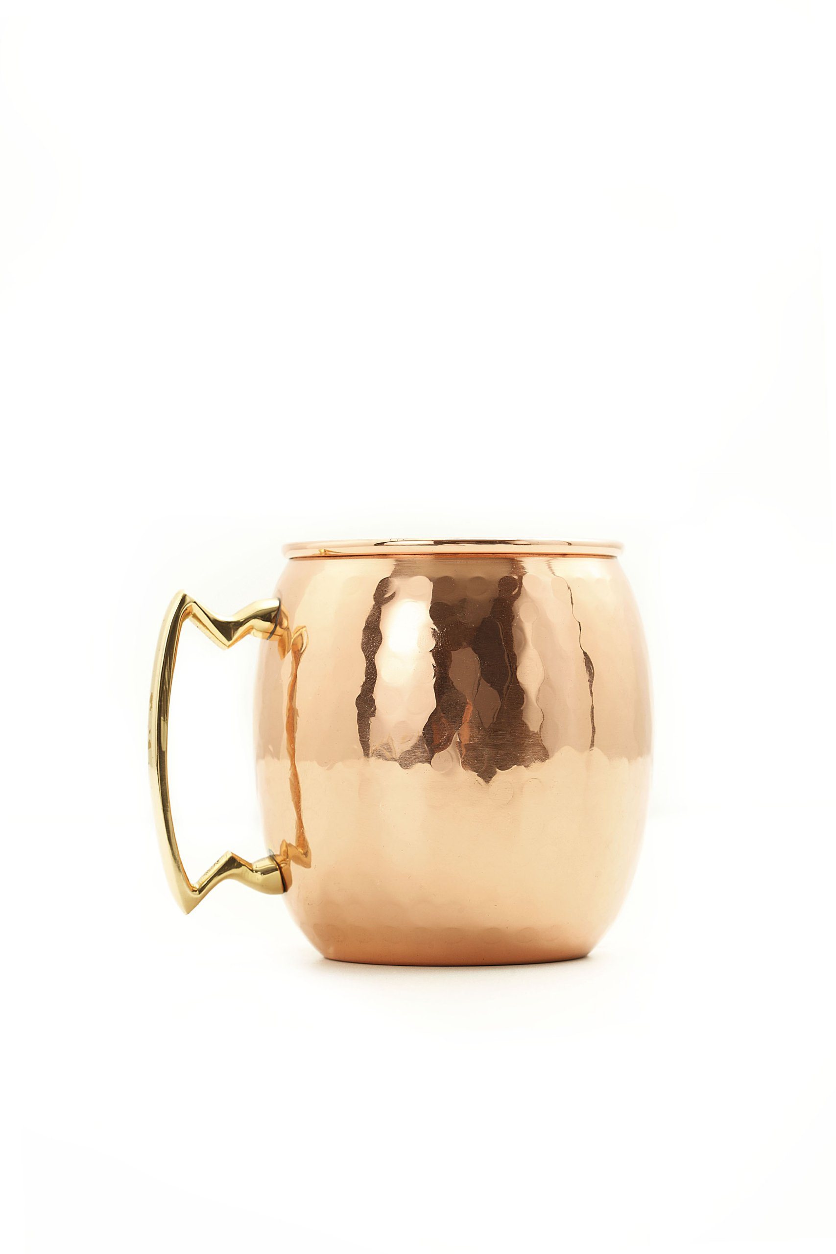 Old Dutch Nickel-Lined, Solid Copper Hammered Moscow Mule Mug, 24 Oz.