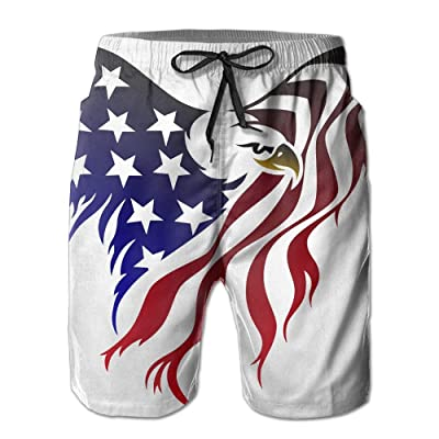 49996be38e American Flag Patriot Skull Men's Quick Dry Beach Board Shorts Summer Swim  Trunks for Father's Day for Boy Swimming Medium|American Flag Eagle