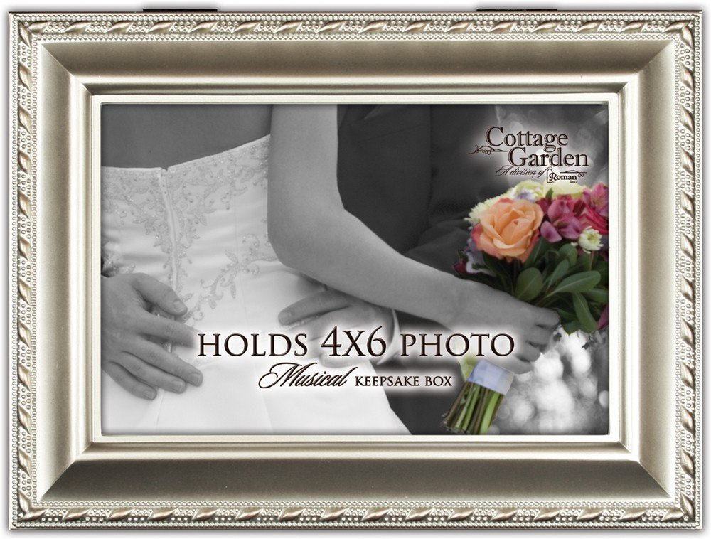 【送料無料キャンペーン?】 Wedding Couple Champagne Silver B0090R534C Cottage Silver Garden Traditional Feel Music Box Plays Feel the Love B0090R534C, 宇目町:55bb0c73 --- arcego.dominiotemporario.com