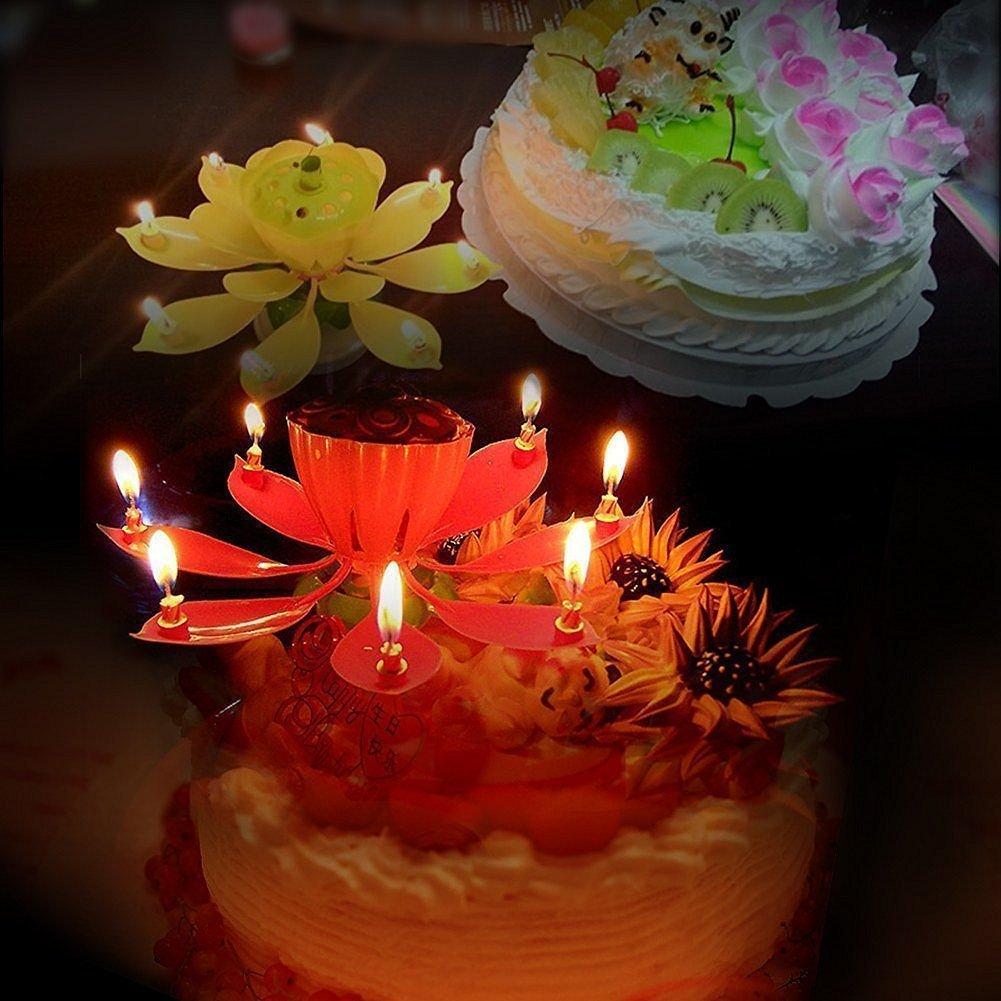 Amazon 4 pack birthday candles cake topper candle music candle amazon 4 pack birthday candles cake topper candle music candle for birthday home kitchen izmirmasajfo