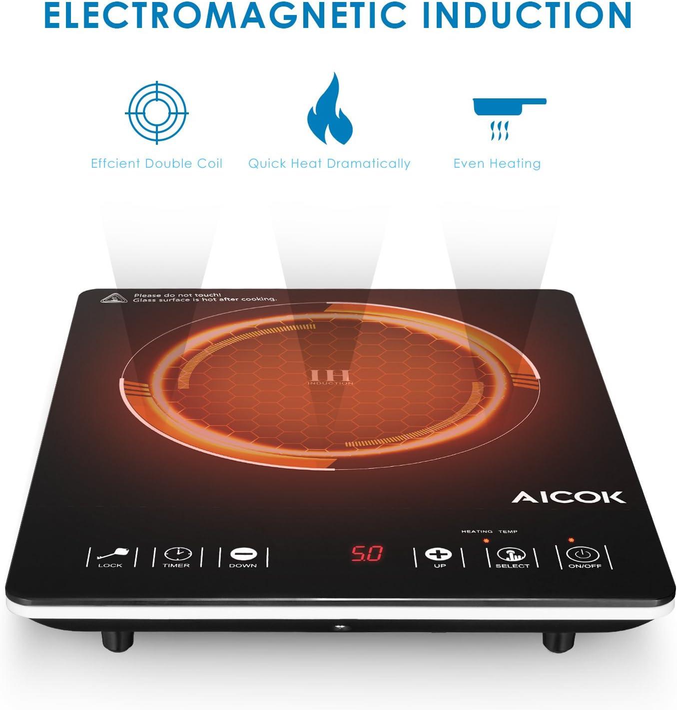 Amazon.com: Aicok Inducción encimera quemador inteligente ...