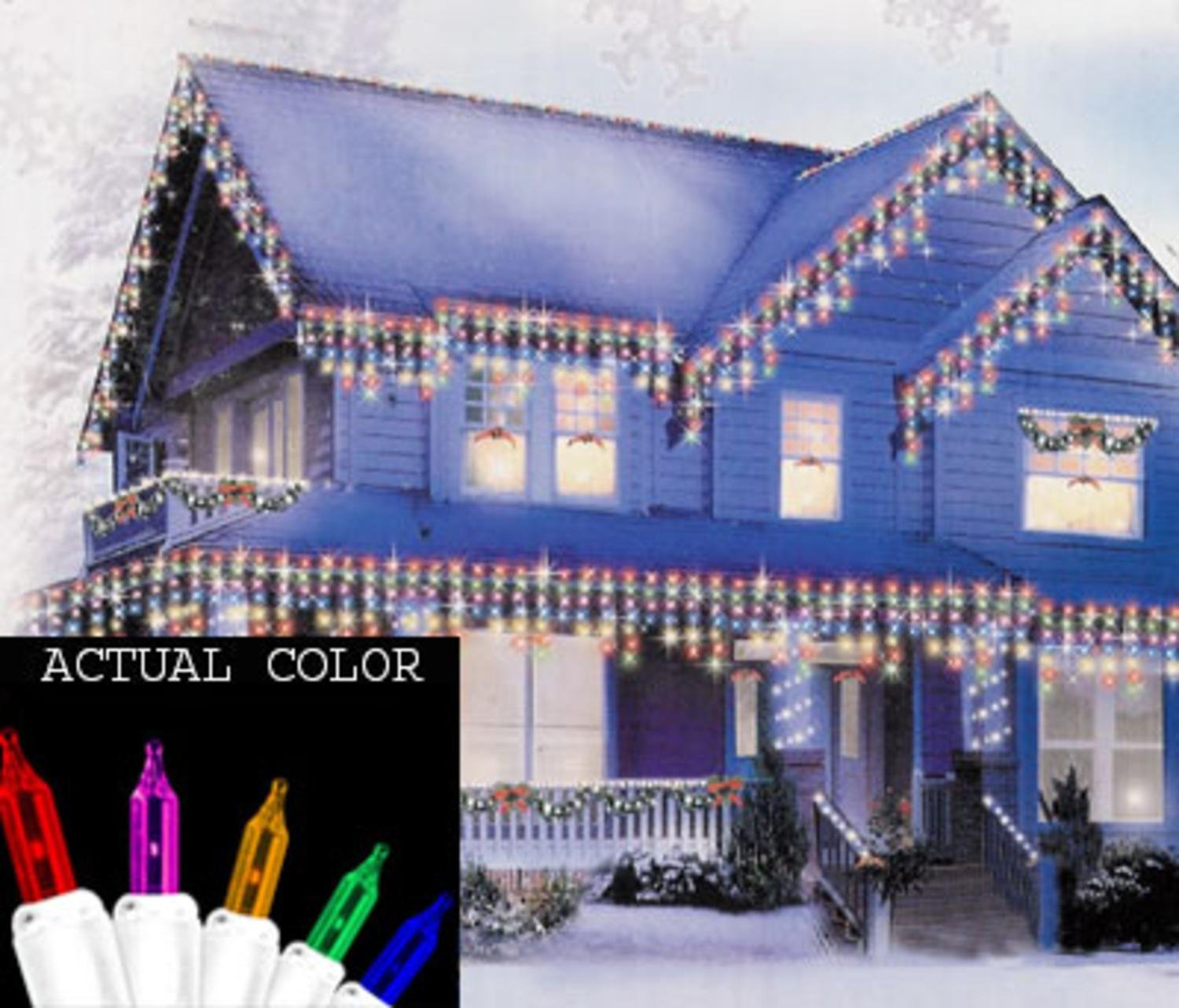 amazoncom sienna set of 150 shimmering multi color mini icicle christmas lights white wire home kitchen