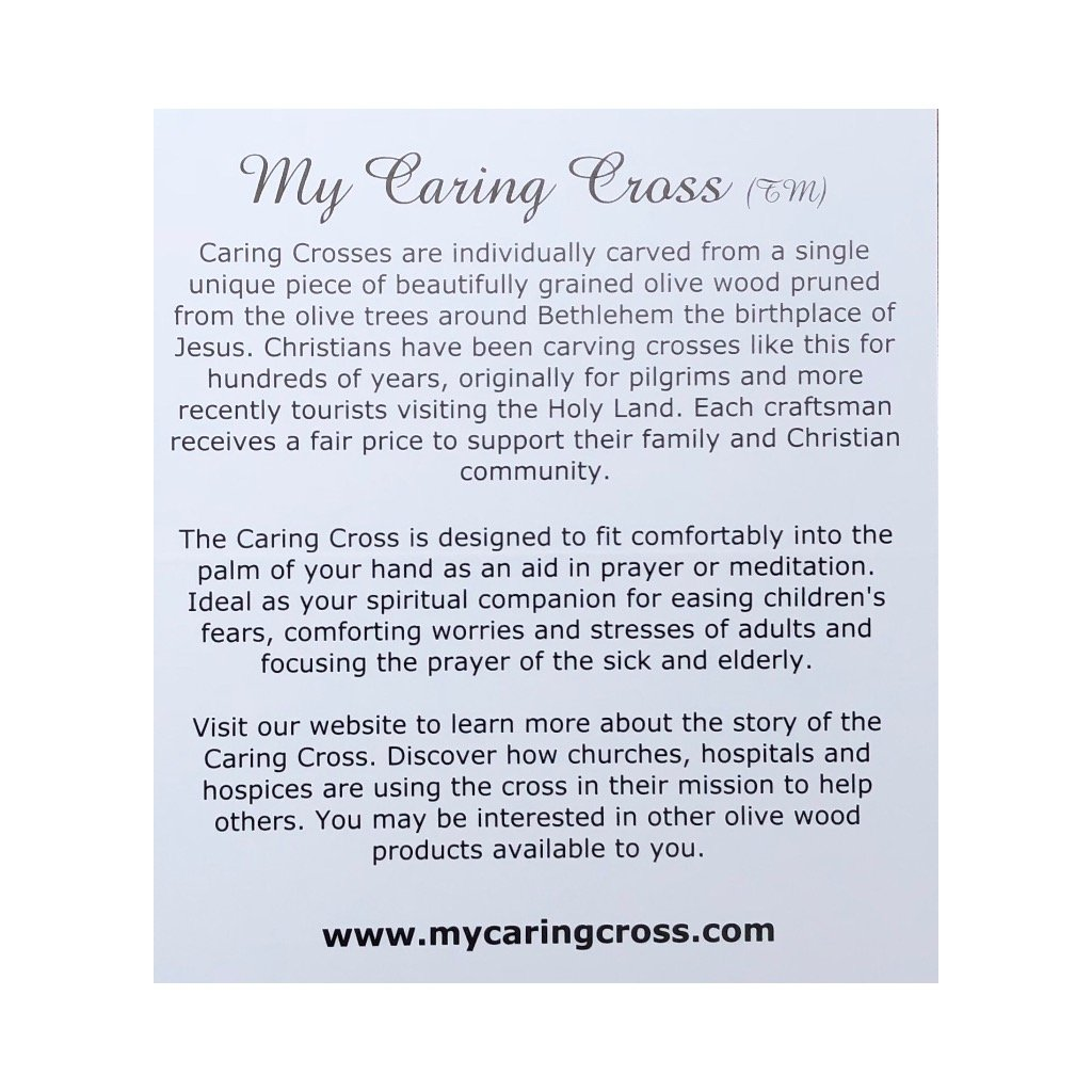 My Caring Cross Heartwood Pocket//Holding rosses from The Holy Land 100, Small