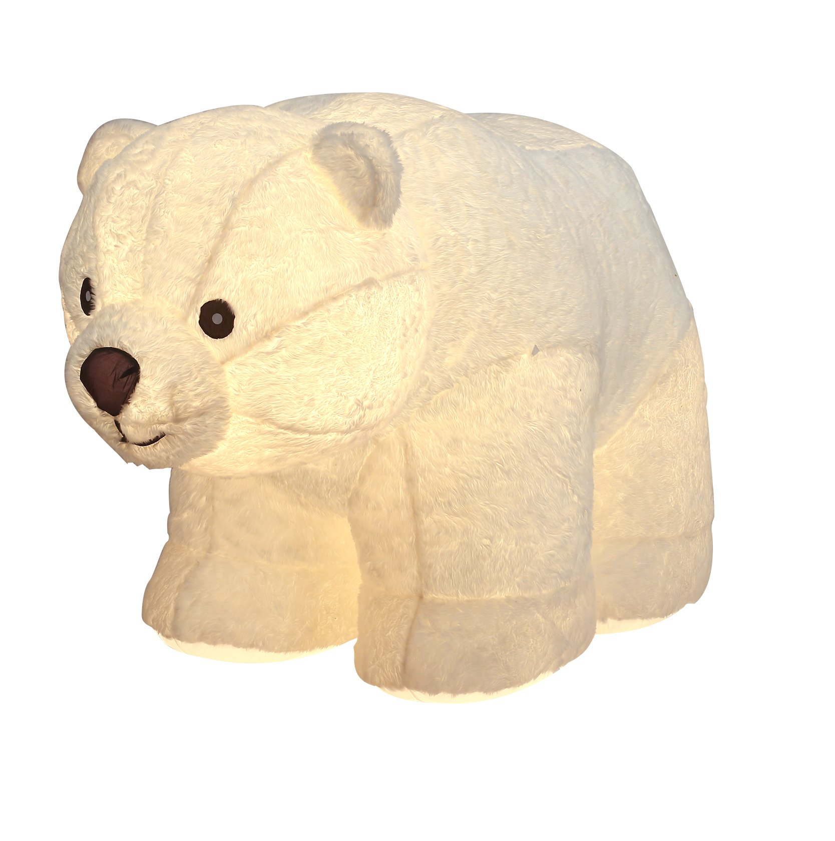 6.5FT Inflatable Standing Plush Polar Bear Indoor Outdoor Christmas Holiday Decorations