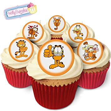 24 Fabulous Pre Cut Edible Wafer Cake Toppers Garfield Amazon