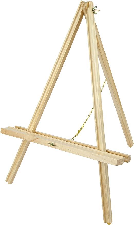 Conda caballete de mesa 55 cm Natural madera artista trípode ...