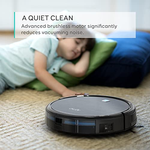 Robot Vacuum – Super Suction Robotic Vacuum Cleaner, 100mins Long Lasting, Timer Function, Self-Charging, Multiple Cleaning Modes, Amarey Robot Vacuum Cleaner for Pet Hair, Hard Floor, Carpet