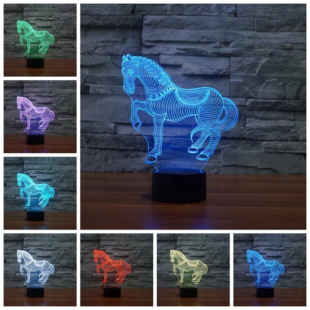 馬/ Owl Night Light and交換可能プレート YKLLGT439-1 B0753BZ9NN 11316 Zebra-1 (Package) Zebra1 (Package)