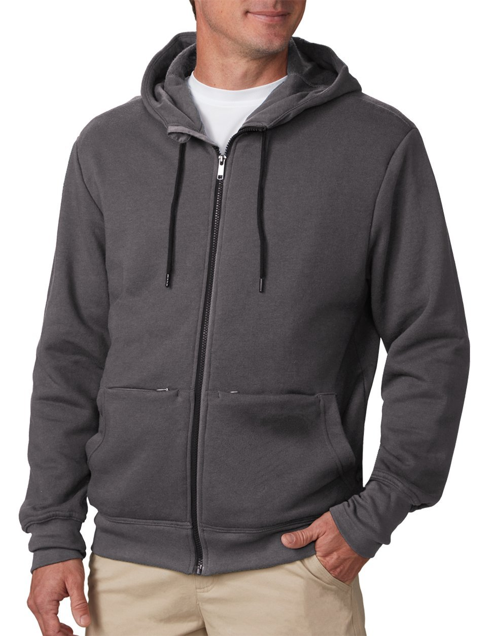 The SCOTTeVEST Hoodie Cotton - 21 Pockets (XXL, Graphite)
