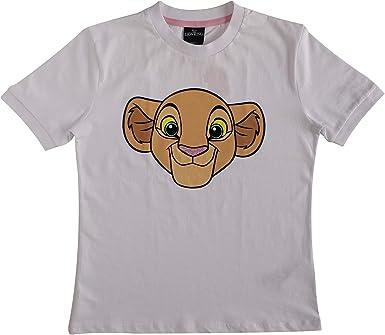 Camiseta Entallada Blanca The Lion King Nala para Mujer