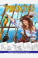 Pirates. Grayscale Coloring Book: Coloring Book for Adults , Relaxing Coloring Pages Paperback