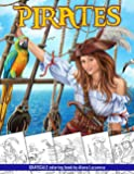 Pirates. Grayscale Coloring Book: Coloring Book for Adults , Relaxing Coloring Pages
