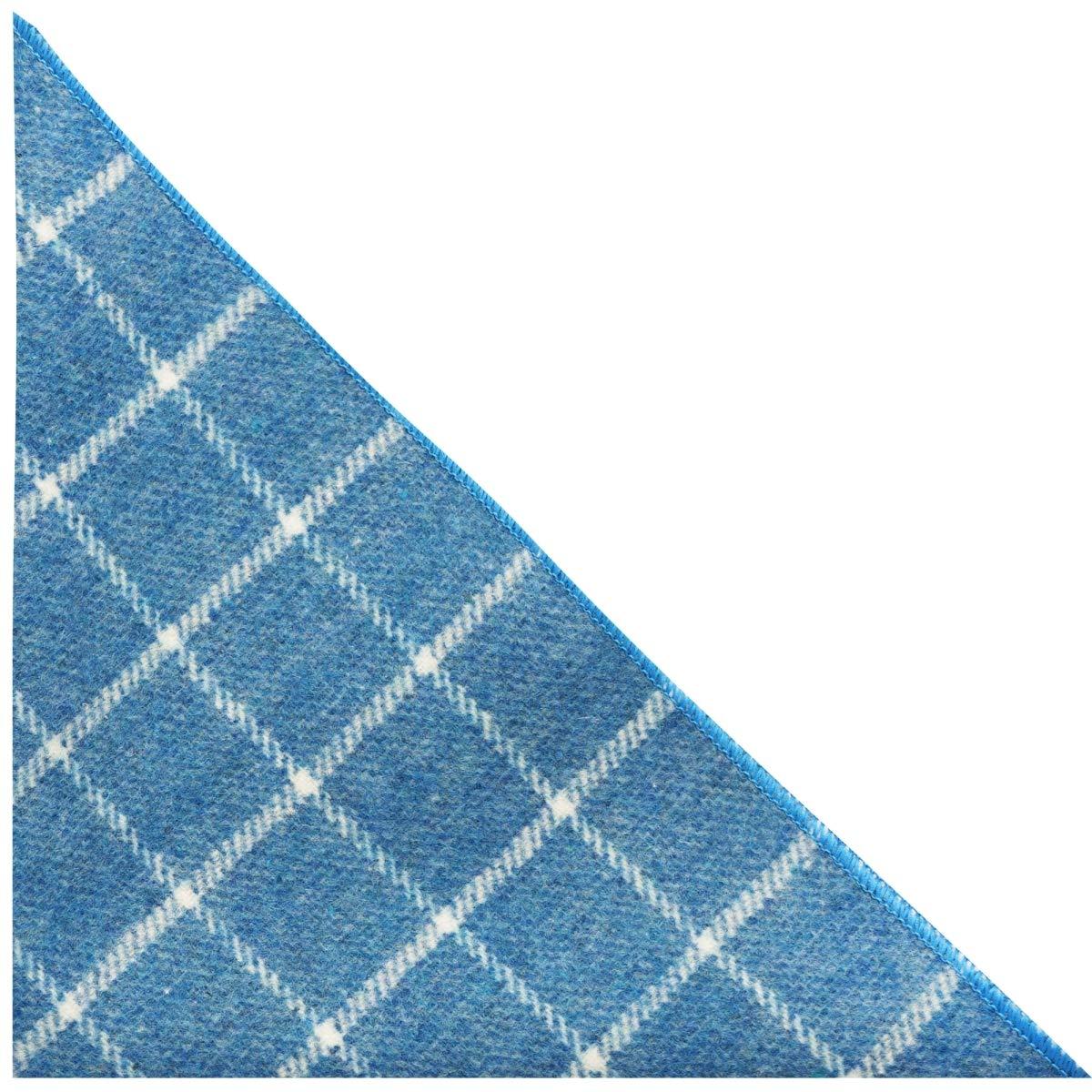 Handkerchief Azure Blue Birdseye Check Pocket Square