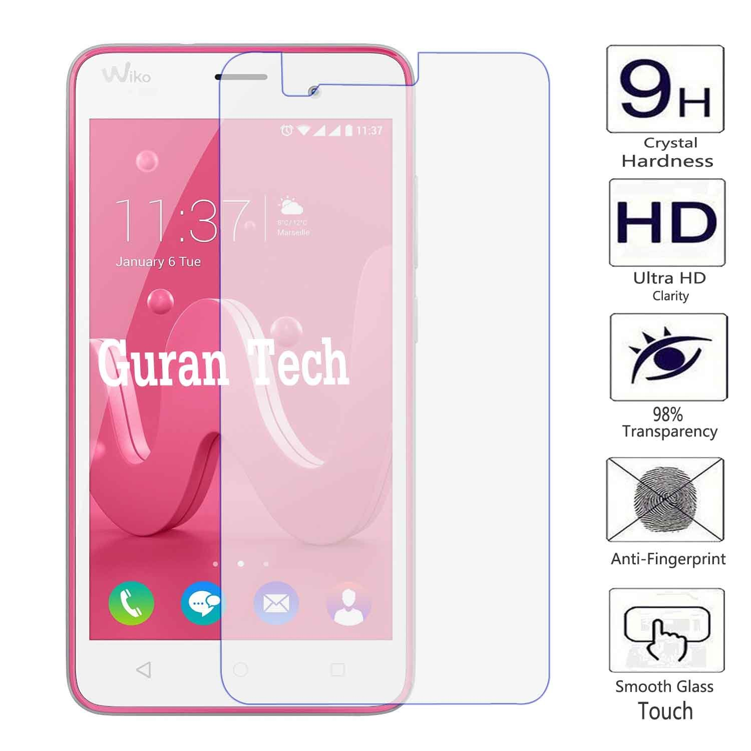 Guran® Tempered Glass Screen Protector Film for Wiko Jerry Smartphone  Anti-Scratch Shatter Proof