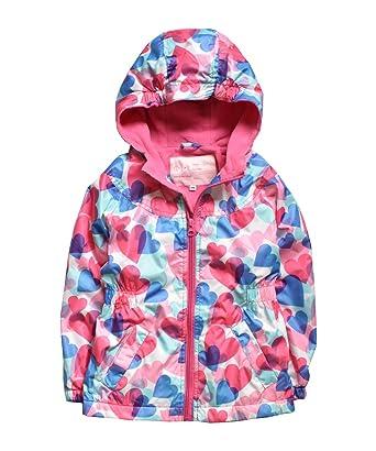 662d44102351 Amazon.com  Hiheart Girls Hooded Fleece Lined Active Jacket Outdoor ...