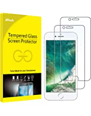 JETech Screen Protector for Apple iPhone 8 and iPhone 7, Case Friendly, Tempered Glass Film, 2-Pack (Clear)