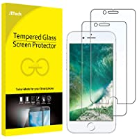 "JETech Screen Protector for Apple iPhone 8 and iPhone 7, 4.7"", Tempered Glass Film, 2-Pack"