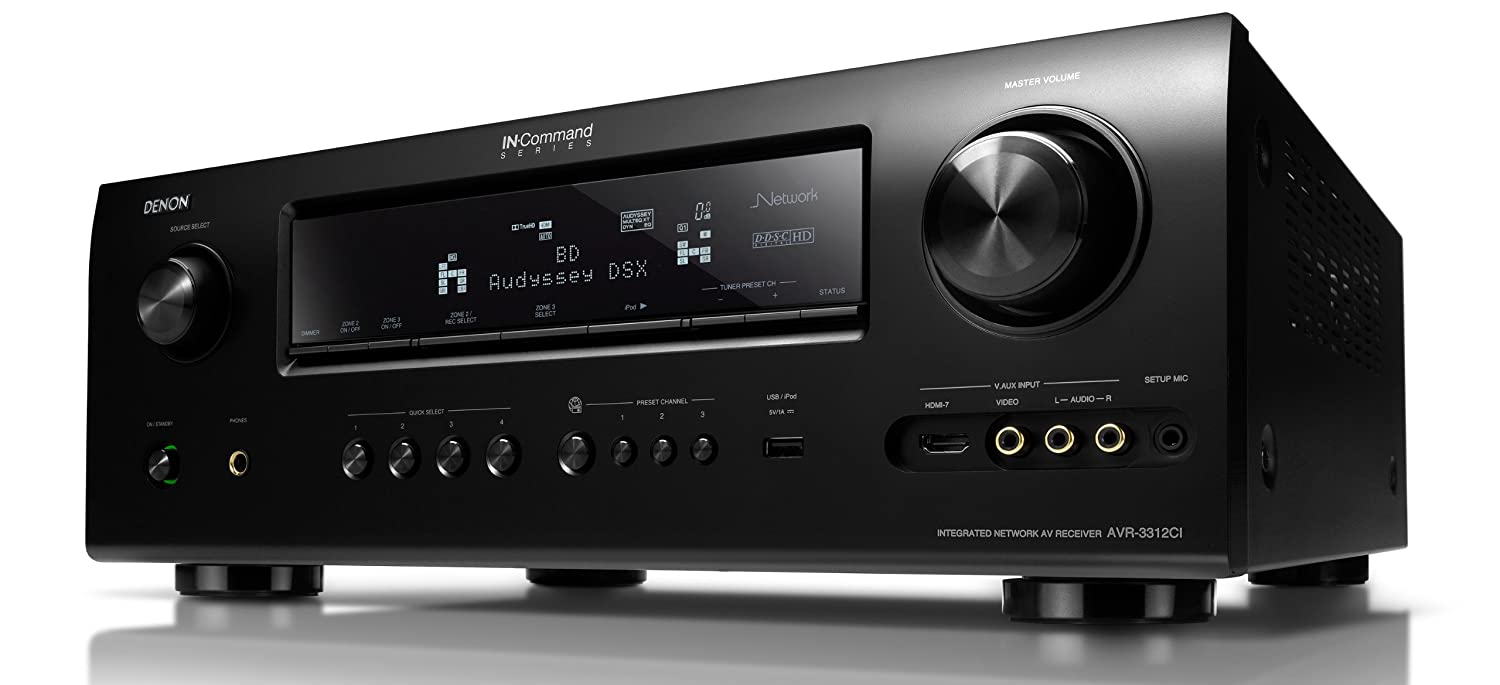 Amazon.com: Denon AVR3312CI Integrated Network A/V Surround Receiver  (Discontinued by Manufacturer): Electronics