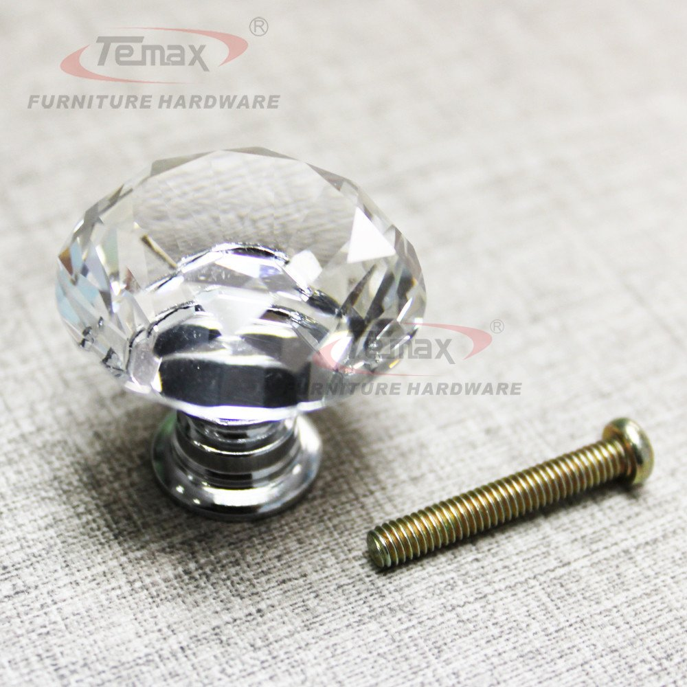 Temax Glass Crystal Sparkle Cabinet Drawer Cupboard Door Pulls Knobs