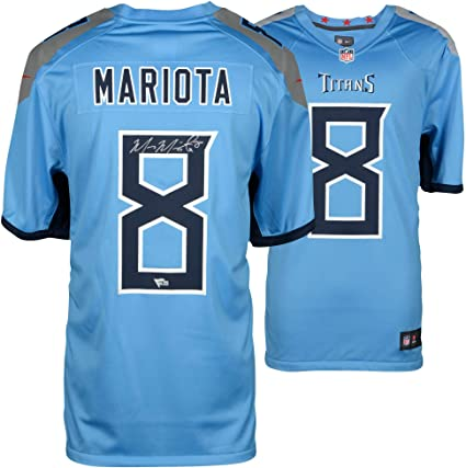 4e0b134c5 Marcus Mariota Tennessee Titans Autographed Nike Game Light Blue Jersey -  Fanatics Authentic Certified