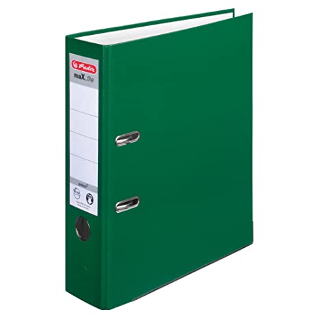 Herlitz max.file Protect - Lote de archivadores de palanca con anillas (5 unidades, 8 cm, A4), color verde