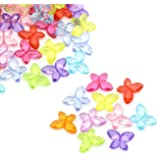 Rockin Beads 180 Mixed Butterfly Acrylic Beads 11x15mm Approx 1/2 X 5/8 Inch