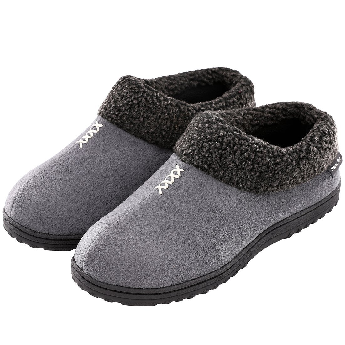 ed7dd4ab5b5339 Men s Cozy Memory Foam Slippers Fluffy Micro Suede Faux Fur Fleece Lined  House Shoes with Non