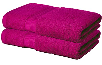 1b2185798c36 Tribecca 2 Piece 500 GSM Large Cotton Bath Towel Set   140 x 70 cm ...