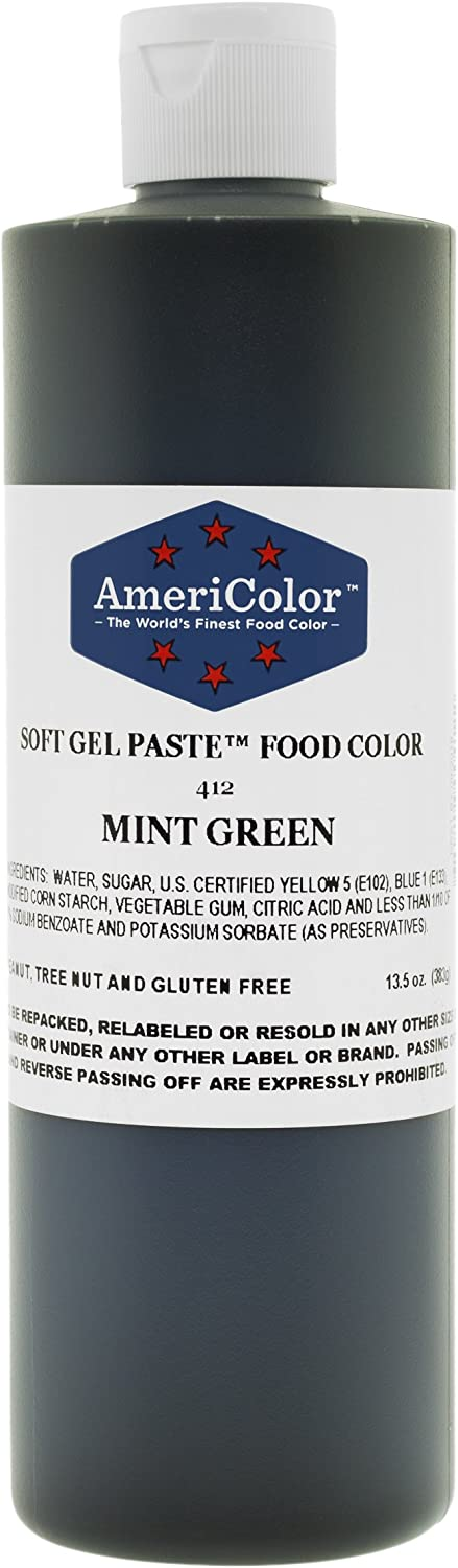 MINT GREEN 13.5 Ounce Soft Gel Paste Food Color