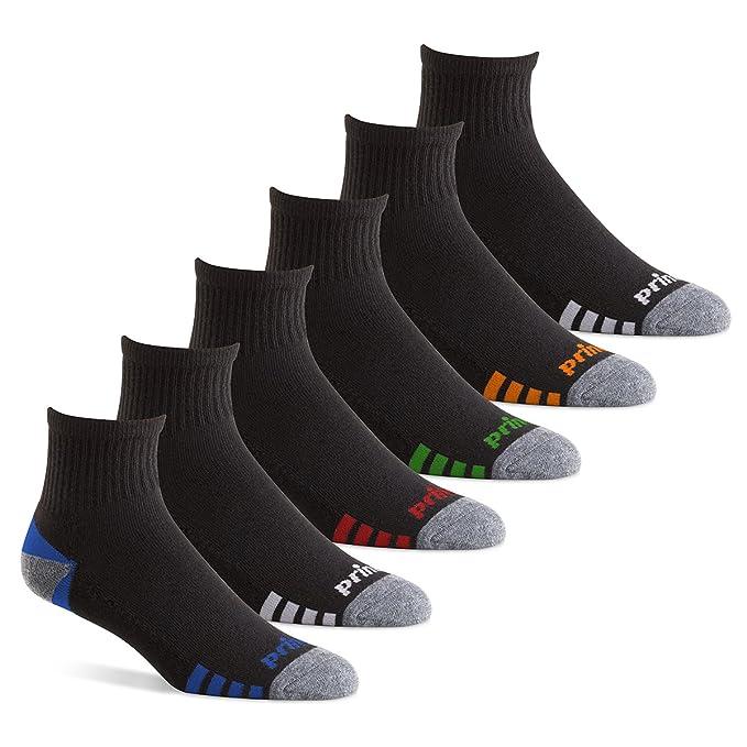 Prince Chaqueta cuarto Performance calcetines para Running, tenis, y uso diario (6 unidades