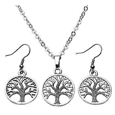 Women's Sterling Silver Tree Of Life Jewellery Set In A Gift Box BXEMkj