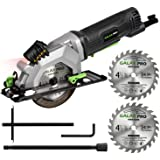 """GALAX PRO 4Amp 3500RPM Circular Saw with Laser Guide, Max. Cutting Depth1-11/16""""(90°), 1-1/8""""(45°)Compact Saw with 4-1/2"""" 24T"""