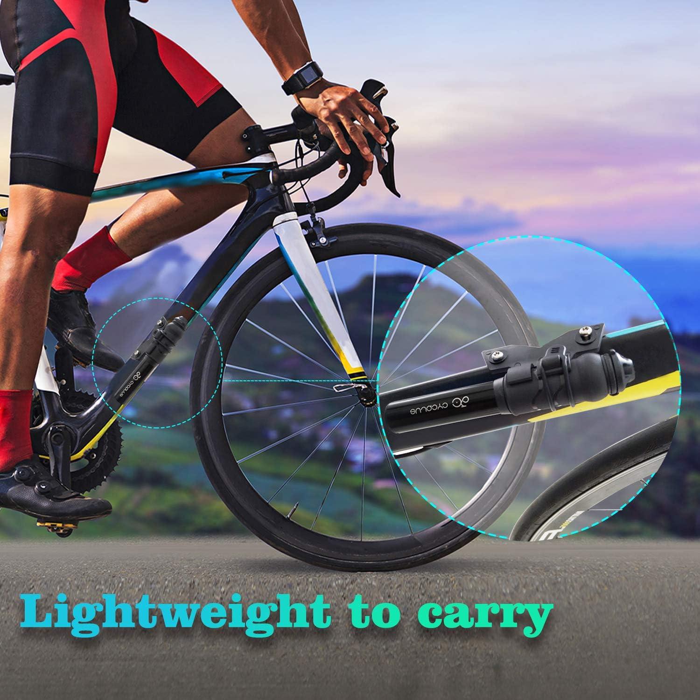 100 PSI Luftpumpe tragbar Rahmenpumpe aus Aluminiumlegierung f/ür Mountainbikes Rennrad und BMX CYCPLUS Mini Fahrradpumpe