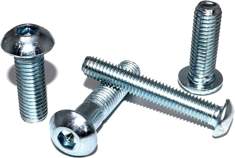 Flachkopfschrauben mit Innensechskant M8x50 DIN 7380-1 Stahl verzinkt 10.9 St/ückzahl 25 Linsenkopfschrauben Linsenschrauben Rundkopfschrauben Flanschschrauben