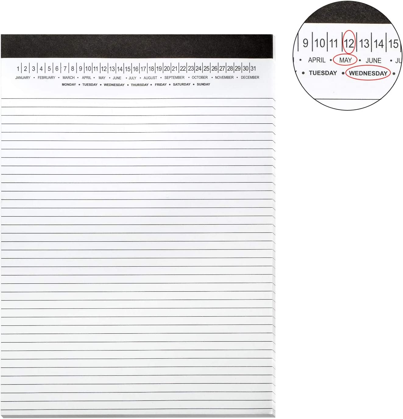 """Legal Pad with Date on Top, 366-366/366"""" x 366366-36/36"""", Write Paper, 3660 Sheets, 366366  Pack"""