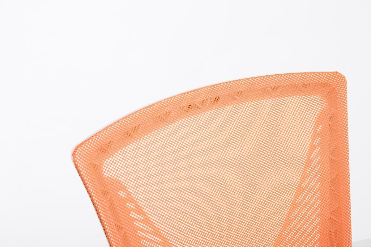 Sedia Pc Imbottita con Portata Max 136KG Telaio Cromato//Arancione CLP Sedia Ufficio Girevole Tracy Colorata Sedia Scrivania Direzionale in Rete con Braccioli