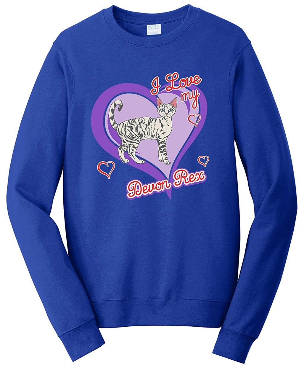 Tenacitee Unisex Devon Rex Cat Sweatshirt